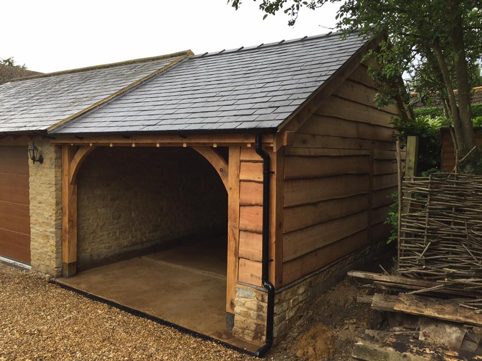 Wooden Cladding Garage Framing ~ Waney edge larch cladding